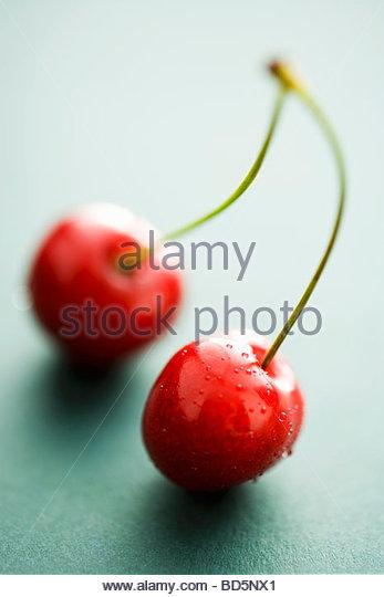 Ein paar Kirschen Stockbild