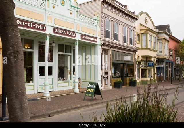 Eureka, antiquarische Bücher unabhängige Buchhandlung Humboldt County in Kalifornien Stockbild