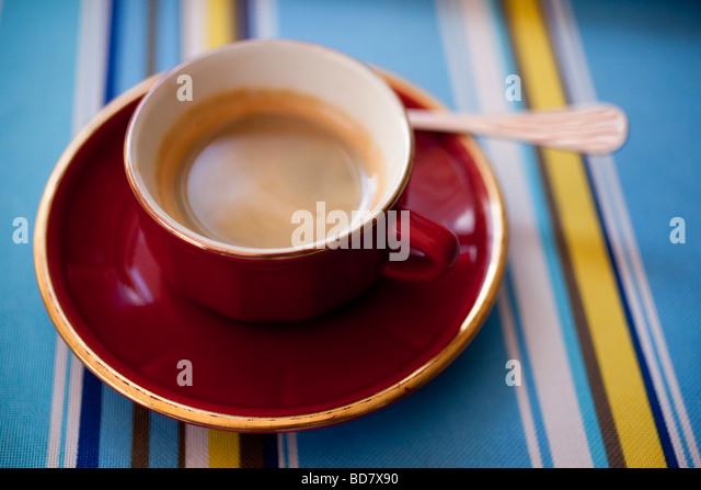 Eine Tasse Kaffee Stockbild