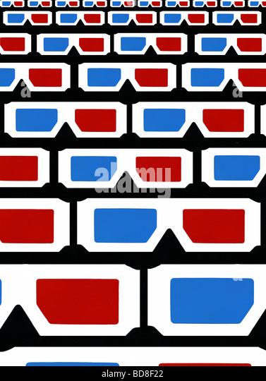 """""""Schau"""", abstrakte 3d Brille, Original Kunst (c) von Caroline P. Digonis 2009 Stockbild"""