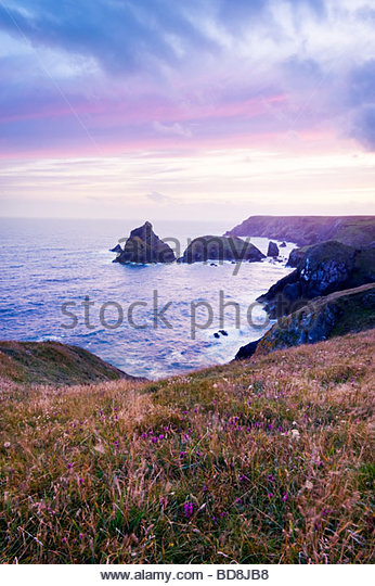Kynance Cove, Halbinsel Lizard, Cornwall, England. Stockbild