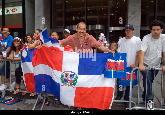 27. jährlichen Dominikanischen Independence Day Parade in New York Stockbild