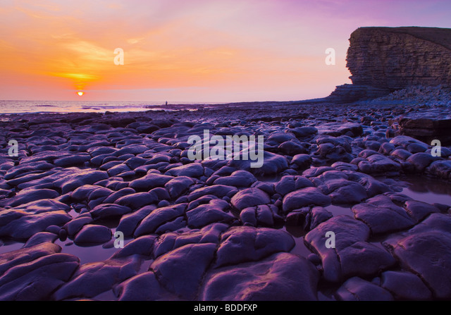 Nash Point nr St Donats Glamorgan Wales (Heritage Coast) Stockbild