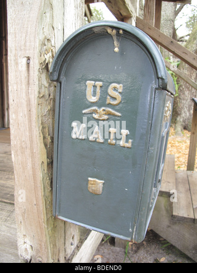 alten Postfach aus den 1800er Jahren in Florida USA Stockbild