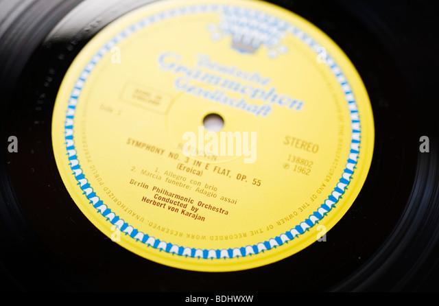 Klassische Plattenfirma Deutsche Grammophon Stockbild