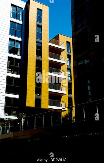 Moderne high-Rise Wohnungen in Norwich, England Stockbild