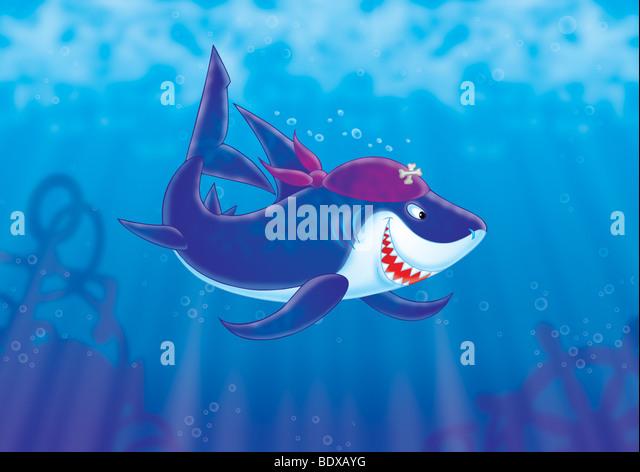 Hai-Piraten Stockbild