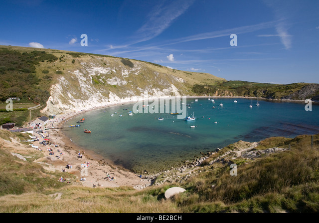 Lulworth Cove, Dorset, Jurassic Coast World Heritage Site, England, UK Stockbild