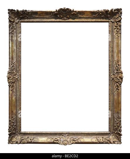 Vintage gold-Rahmen isoliert auf einem weißen Hintergrund Stockbild