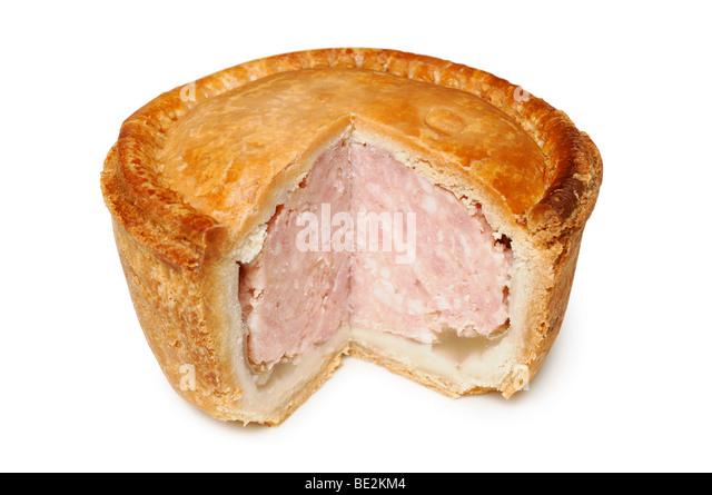 Pork Pie, Nahaufnahme. Stockbild