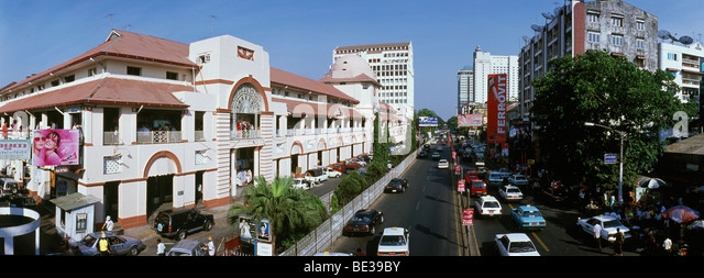 Bogyoke Aung San-Markt, Rangun, Yangon, Birma, Myanmar, Asien Stockbild