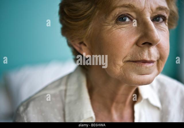 Ältere Frau, close-up Stockbild