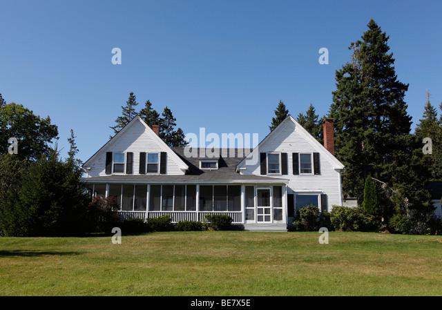 der 1800er Bauernhaus, Maine Stockbild