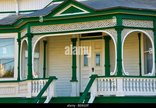 Haus in der Stadt von Sainte Anne de La Mauricie perade Quebec Kanada Stockbild