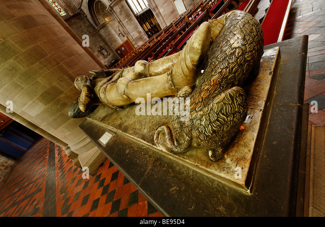 Richard Pembridge Tomb - Hereford Kathedrale Stockbild