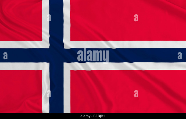 Flagge Norwegens Stockbild