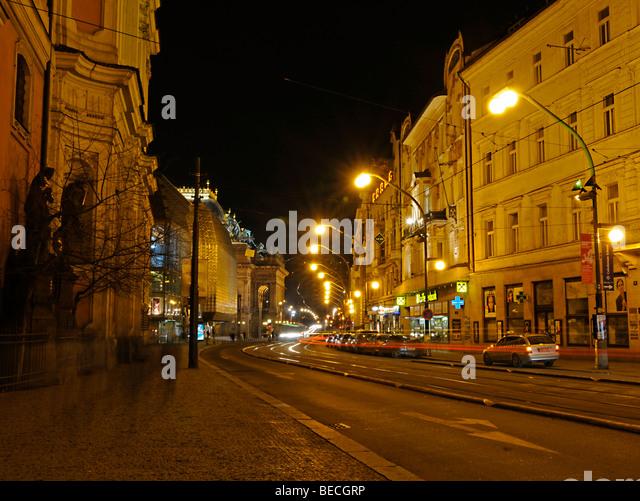 Straßenbild, Prag, Tschechische Republik, Europa Stockbild