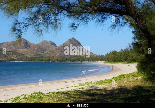 Madagascae - Evatra Strand in der Nähe von Fort Dauphin Stockbild