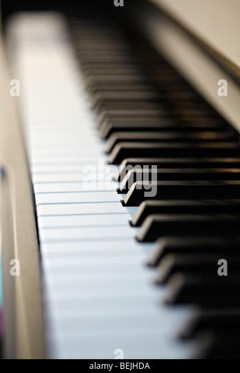 Akustischen Klavier-Tastatur. Stockbild