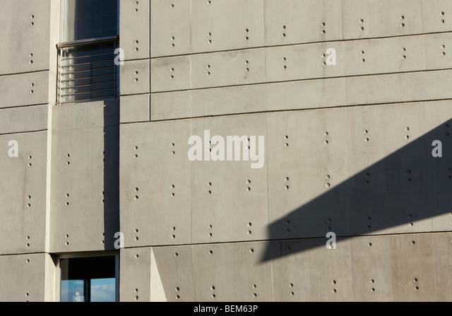 Fassade des zeitgenössischen Gebäude Stockbild