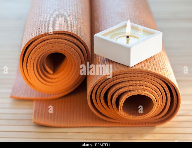 Kerze auf underpadding Stockbild