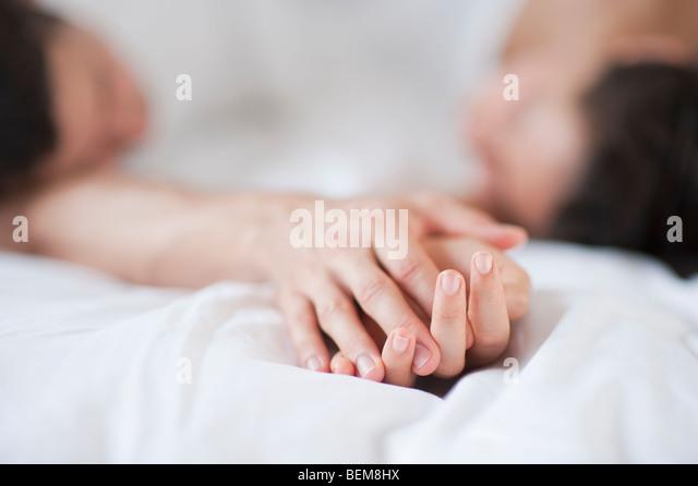 Paar im spa Stockbild