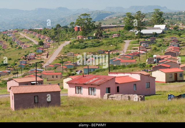 Neue Gemeinde in der Nähe von Durban in Südafrika Stockbild