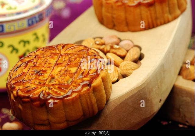 Chinesischen berühmten Essen-- Mond Kuchen Stockbild