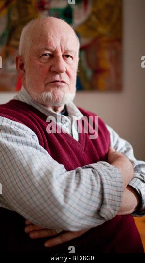 Porträt eines Senior. Heidelberg, Deutschland. Stockbild