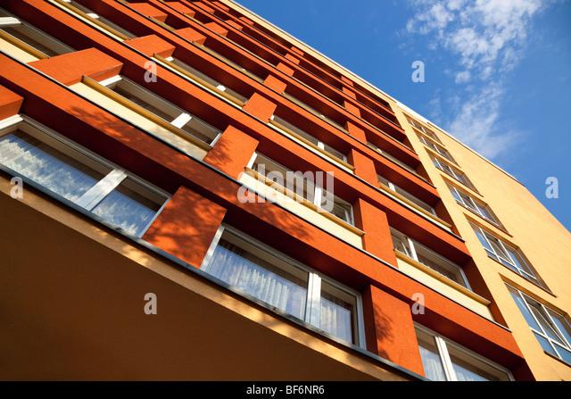 Modernes Gebäude. Hohen Winkel Kamera-Ansicht. Stockbild