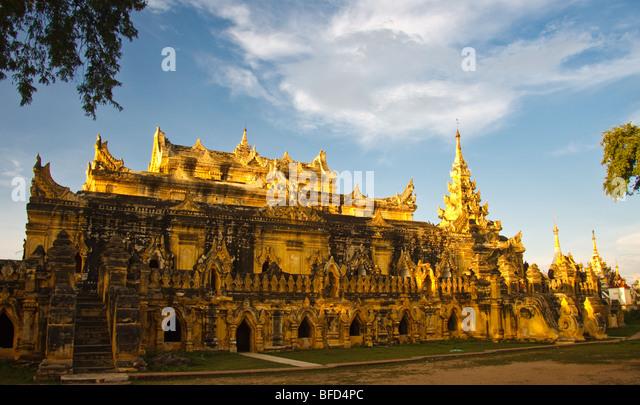 Maha Aung Mye Bon Zan Kloster in Inwa in der Nähe von Mandalay Stockbild