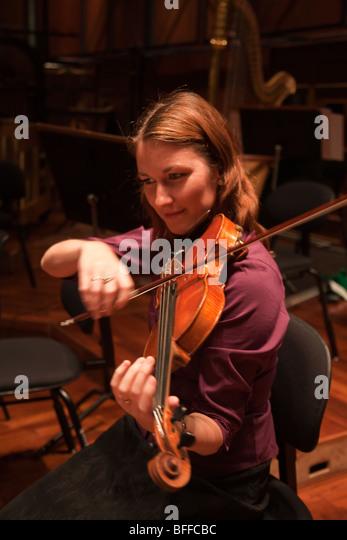 Geiger Geige Spieler Musiker Stockbild