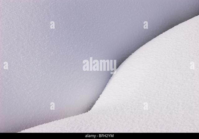 Mounded Schnee; Yellowstone-Nationalpark, Wyoming. Stockbild