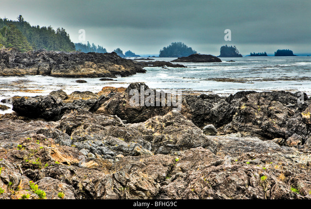 Wild Pacific Trail, Vancouver Island, British Columbia, Kanada Stockbild