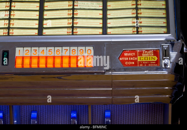 Antik, Vintage 1950er Jahre Seeburg Jukebox-Musik-player Stockbild