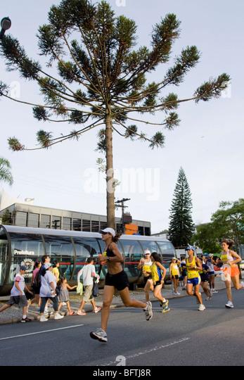 Curitibas marathon Stockbild