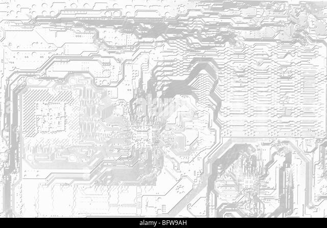 Abstrakte grafische elektronischen schwarzen und weißen Hintergrund Stockbild