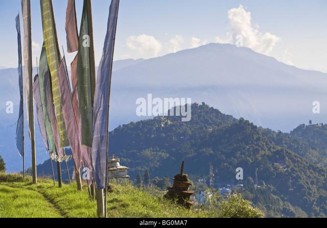 Sangachoeling Gompa, die zweite älteste Gompa in Sikkim, Pelling, Sikkim, Indien, Asien Stockbild