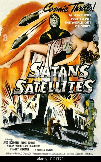 Satans Satelliten Plakat für 1958 Republik Pictures Corporation Film Stockbild