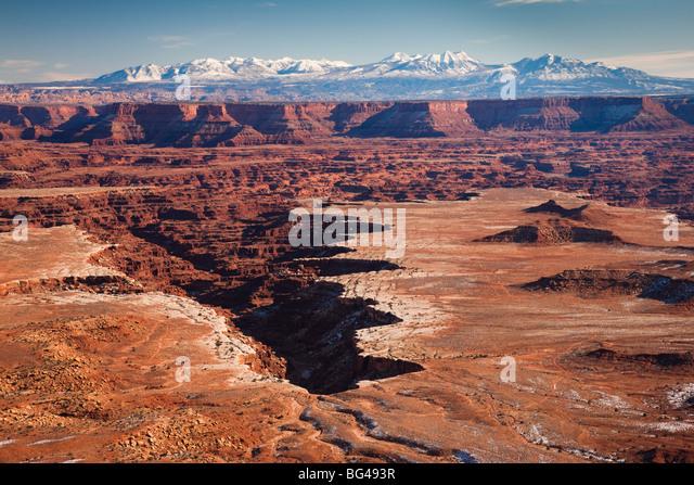 USA, Utah, Moab, Canyonlands National Park, Buck Canyon Overlook, winter Stockbild