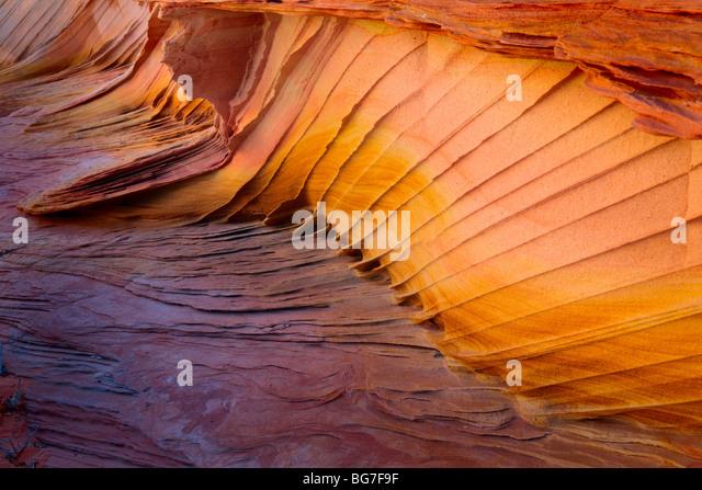 Fantastische Farben und Formen im Sandstein detailliert Vermilion Cliffs National Monument, Arizona Stockbild