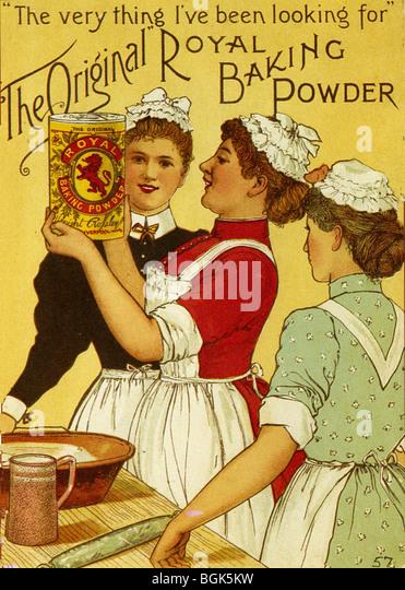 ROYAL BACKPULVER Anzeige etwa 1895 Stockbild