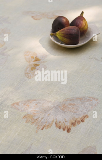 Auswahl an Stoffen und Textilien von Jim Thompson Stockbild