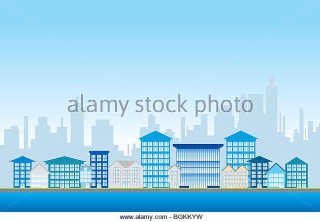 Stadt Leben Abbildung Stockbild