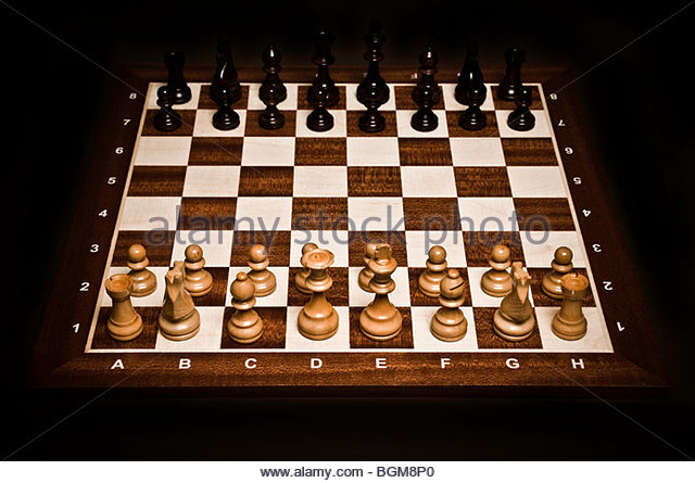 Spiel des Schachs als Konzept für den Wettbewerb und Strategie Stockbild