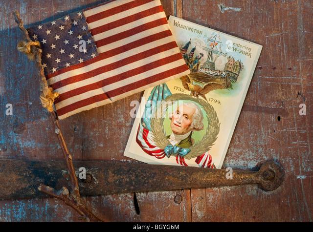 Amerikanische Fanartikel Stockbild
