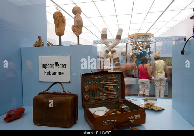 Das Deutsche Hygiene-Museum, DHMD, Raum 2 Leben und sterben, Dresden, Sachsen, Deutschland, Europa Stockbild