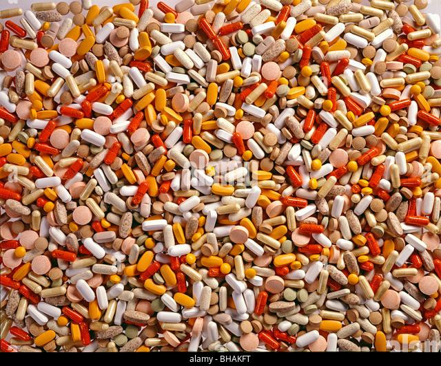 Fülle von Medikamenten Stockbild
