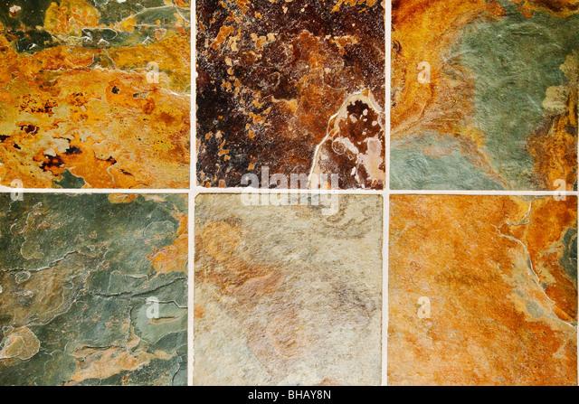 Schiefer Naturstein Bodenbelag Fliesen abstrakten Hintergrund Stockbild