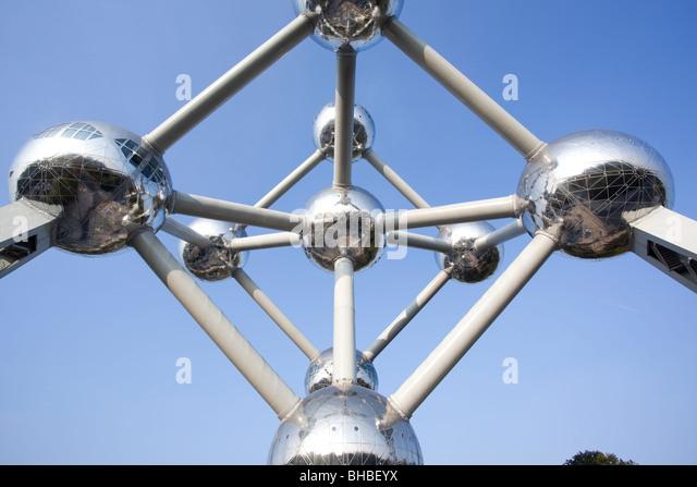"""Das Atomium"" Brüssel Belgien Stockbild"